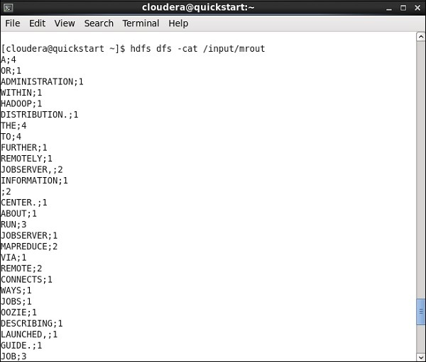 Go to your HDFS path and check the output. Note that all the words will be in uppercase with their wordcount.