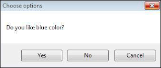 """Step 3 − After Clicking OK, yet another dialog box is displayed with a message along with """"yes, no, and cancel"""" buttons Shout4Education"""
