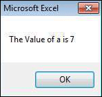 Step 4 − After clicking the 'No' button, the value of that button (7) is stored as an integer and displayed as a message box to the user as shown in the following screenshot. Using this value, it can be understood which button the user has clicked Shout4Education