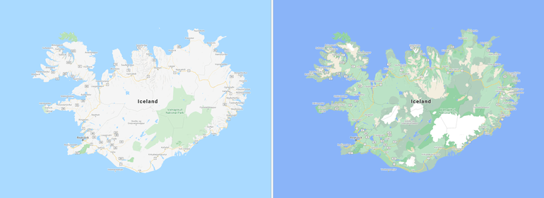 google maps colour code algorithm iceland - mytechmint