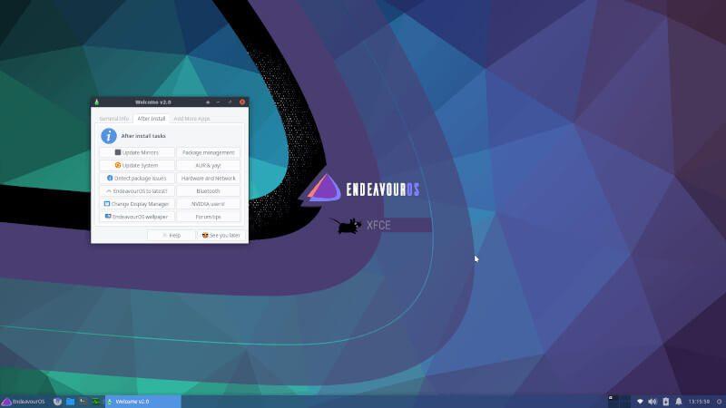 Endeavor Linux OS - Top 10 Best Rolling Release Linux Distributions - myTechmint