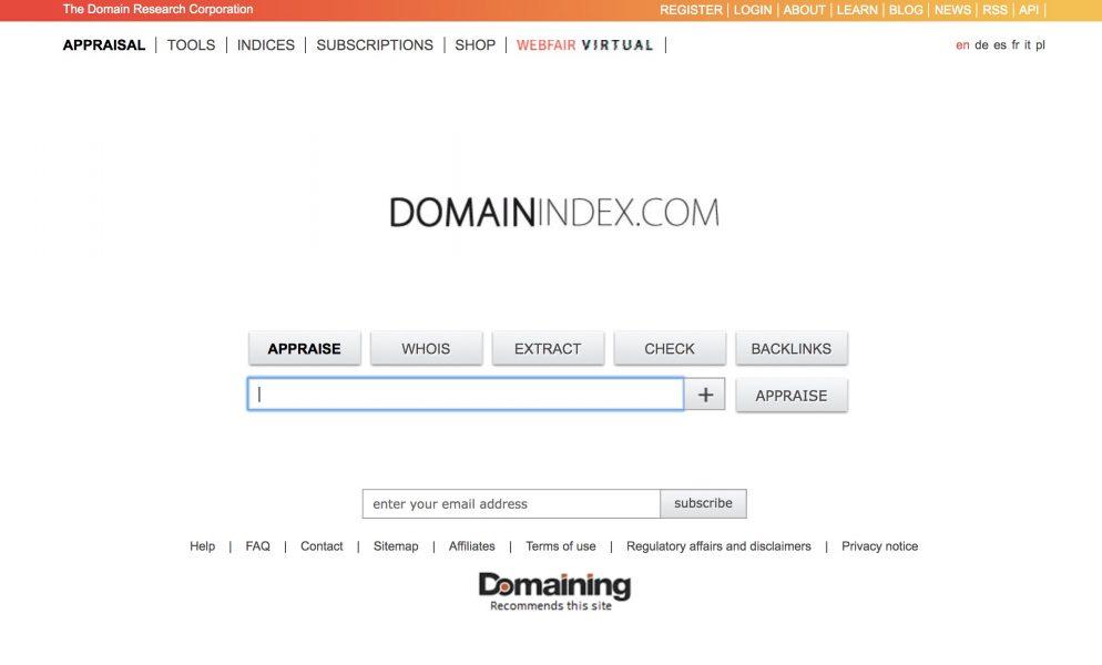domainindex website -Best Domain Appraisal Services And Domain Name Value Checkers - mytechmint.com