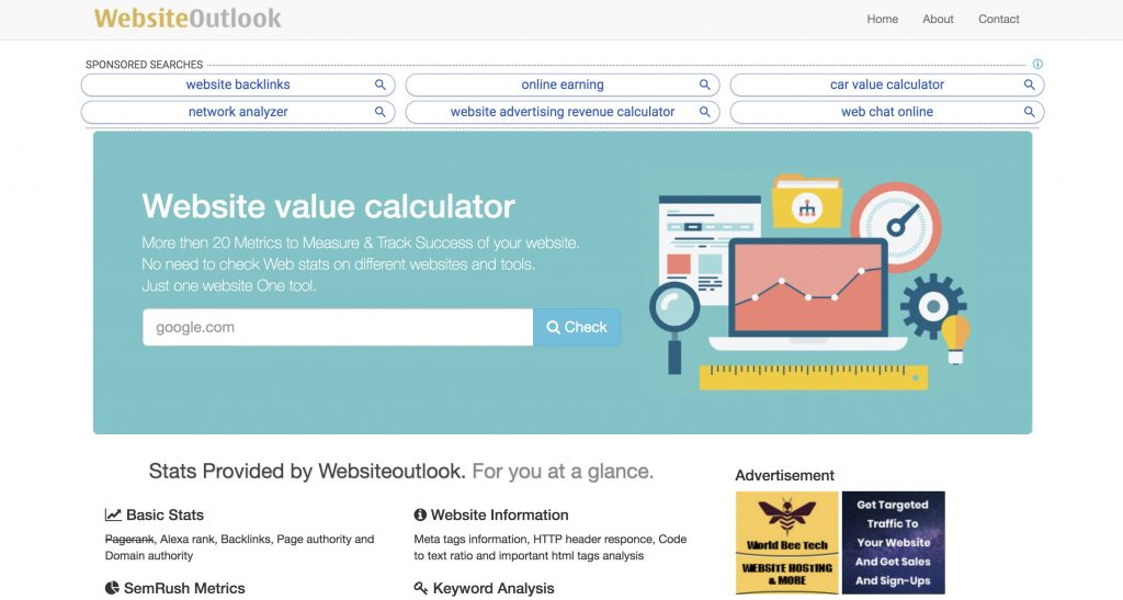 websiteoutlook website tool - Best Domain Appraisal Services And Domain Name Value Checkers - mytechmint.com
