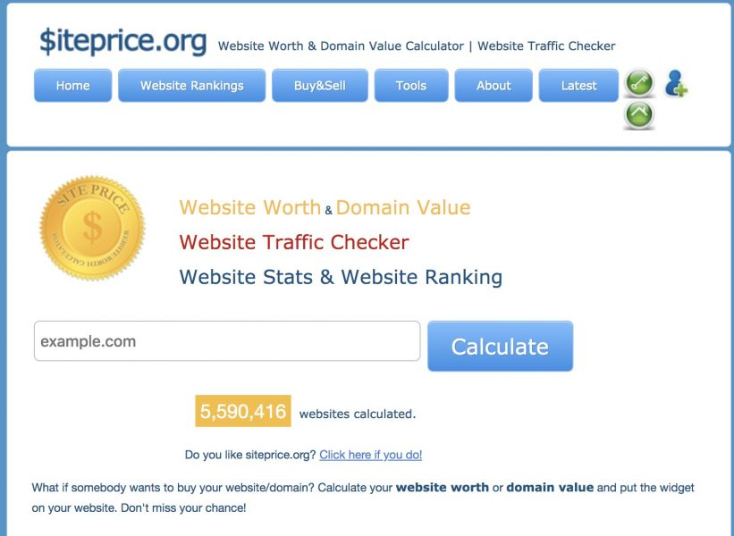 siteprice appraisal website - Best Domain Appraisal Services And Domain Name Value Checkers - mytechmint.com