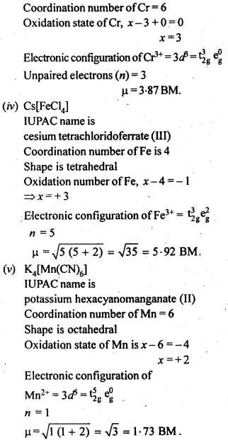NCERT Solutions For Class 12 Chemistry Chapter 9 Coordination Compounds-18