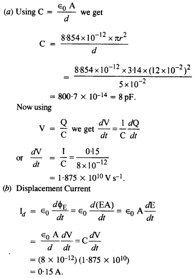 NCERT Solutions for Class 12 physics Chapter 8.22