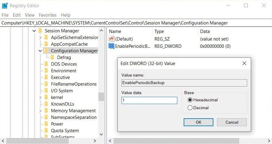 Automatic registry backup - mytechmint