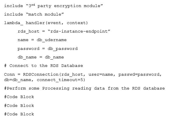 Lambda function below is being called through an API using Amazon API Gateway