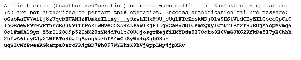 AWS CLI Command Error
